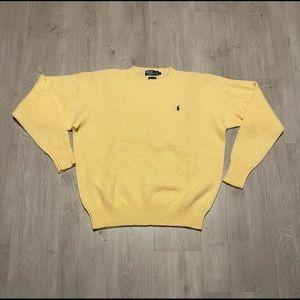 Polo Ralph Lauren Yellow Sweater Scottish Yarn